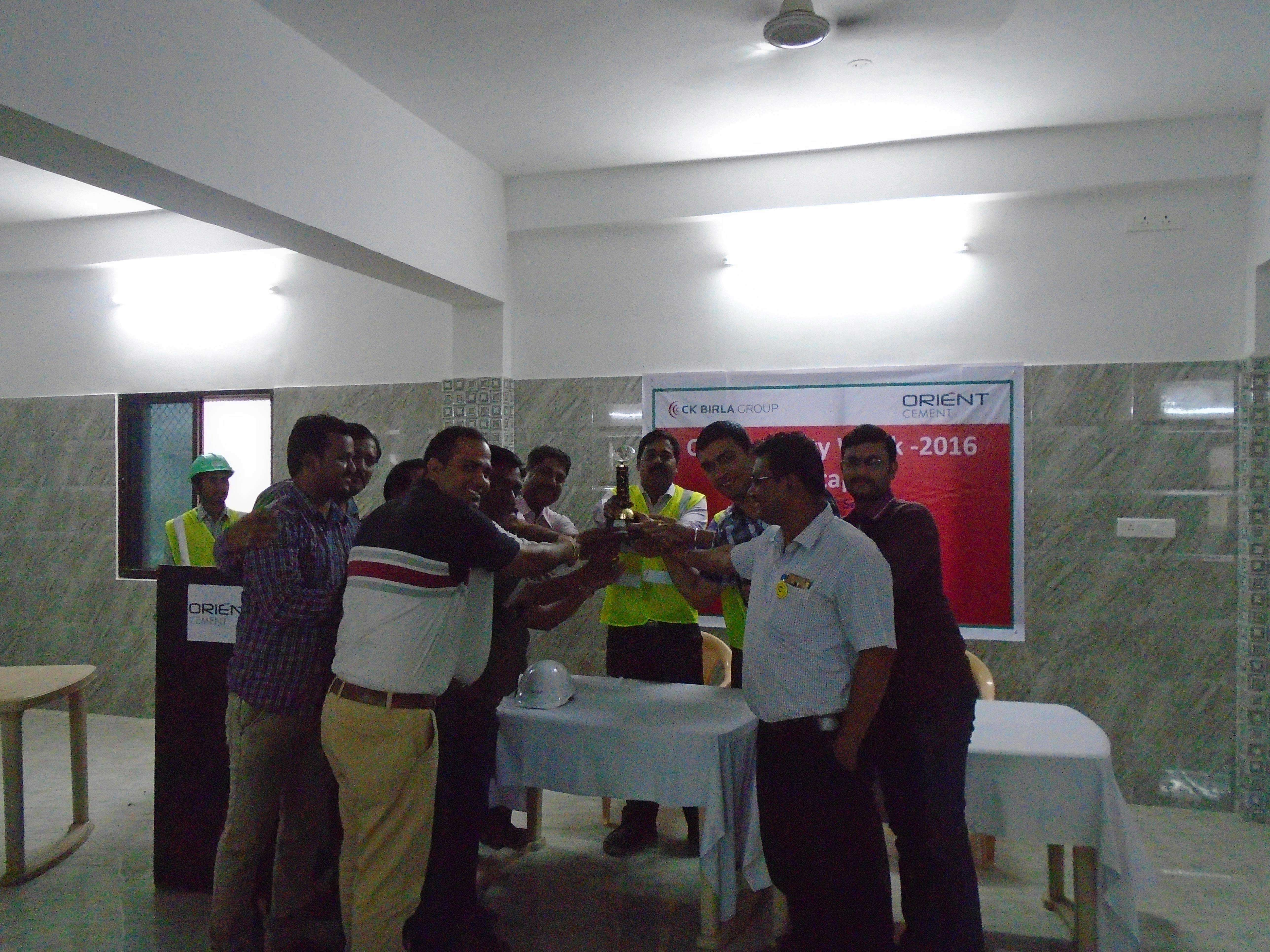 Best House Keeping Trophy at Chittapur